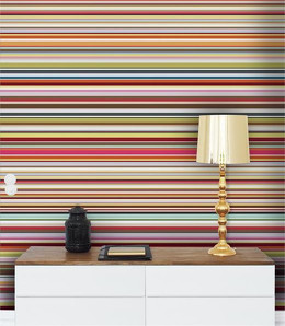 multi coloured striped wallpaper uk