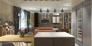 Современная четырехкомнатная квартира для семьи с двумя детьми