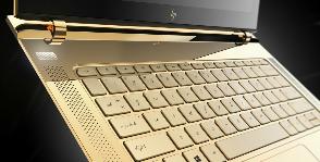 Бриллиантово-золотые ноутбуки HP