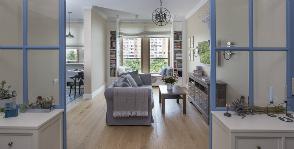 Двухкомнатная квартира с эффектными деталями для начитанной девушки