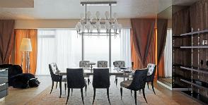 Над облаками: интерьер квартиры на 68-м этаже башни «Москва-Сити»