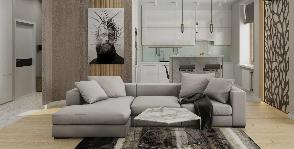 Функционал и свежесть мысли: двухкомнатная квартира в современном стиле