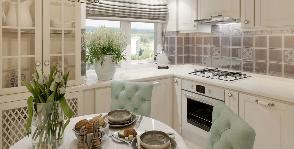 Кухня-«шкатулка»: неоклассический интерьер на 5 кв. м