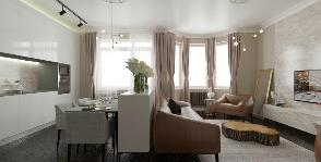 Эклектика в интерьере трехкомнатной квартиры: дизайнер Яна Сахаревич