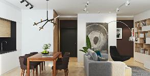 Двухкомнатная квартира в современном стиле: мастерская Geometrium