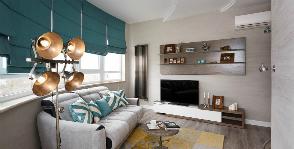 Природные мотивы Куршской косы в интерьере квартиры: проект Анастасии и Алексея Шперлинг