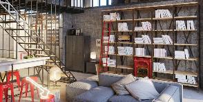 Двухуровневая квартира в стиле лофт: проект студии Точка дизайна