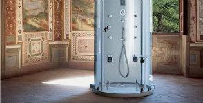 Гидромассажные душевые кабины: моноблочные и сборные