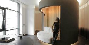 Интерьер с вращающейся комнатой