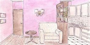 Кухня со спальным местом