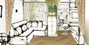 Дизайн однокомнатной квартиры 45 кв м 5 фото — проектов