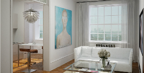 Как двухкомнатную квартиру превратить в студию?