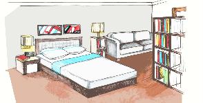Как совместить спальню и кабинет в однушке?