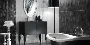 <strong>26</strong> черно-белых ванных комнат