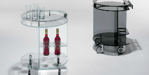 <strong>12</strong>  стеклянных сервировочных столиков
