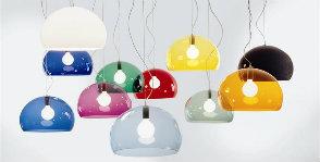 Подвесные одноламповые светильники
