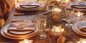 Новогодний банкет – 3 варианта сервировки