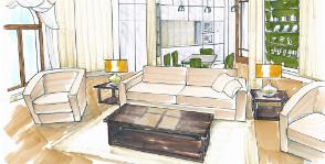 Гостиная и столовая в эркере: <br>как расставить мебель?