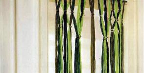 Нитяные шторы из лыка