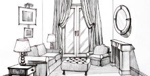 Необычный интерьер для стандартной гостиной