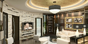 Квартира свободной планировки в стиле ар деко: проект Антона Семикина