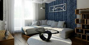 3-комнатная квартира в доме серии 1.090: проект Марии Зальновой