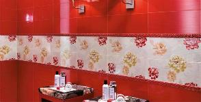 <strong>18</strong> образцов красной плитки для ванной