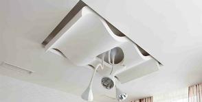 <strong>20</strong> потолков из гипсокартона необычной формы
