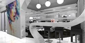 Квартира свободной планировки в духе футуризма: дизайнер Юлия Суханова