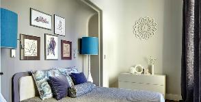 Оформление изголовья кровати и стены за изголовьем: 12 вариантов