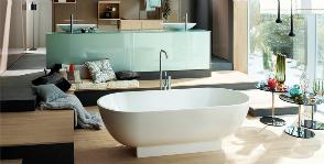 Burgbad объединяет ванную комнату с гостиной и спальней