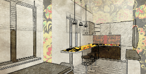 Как оформить кухню в русском стиле?