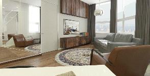 Проект Кристалл - двухкомнатная квартира в Москве: дизайнер Яна Сахаревич