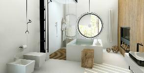 Интерьер в деталях: ванная в сосновом бору