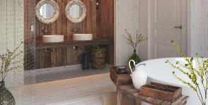 Интерьер в деталях: ванная с окном