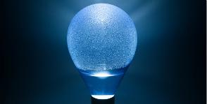 Лампа с конденсатом