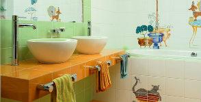 Детская ванная: делаем из обычной