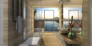 Ванная комната, объединенная с зоной SPA: проект Оксаны Хрущевой