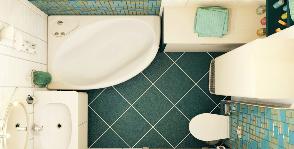На что способна магия аквамарина: проект ванной комнаты дизайнера Евгении Шевченко