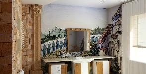 Ванная комната с итальянскими фресками: проект Александра Шереметьева