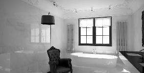 Современное барокко в ванной комнате: проект дизайн-бюро m2project