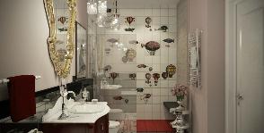 Полет фантазии и дирижаблей: проект ванной комнаты от архитектурного бюро ART UP