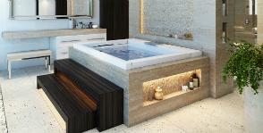 Ванная комната гедониста: проект Марии Ивановой для дизайн-студии Fullhousedesign