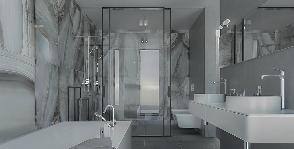 Природная красота алебастра. Ванная комната от  дизайнера Евгения Байсы
