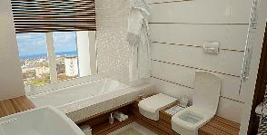 Ванная комната над уровнем города: проект Михаила Баранова