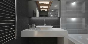 Ванная комната в коттедже: дизайнер Анастасия Фролова