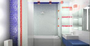 Ванная-триколор: дизайнер Варвара Головко