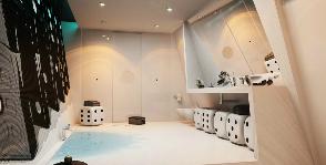 Креативная ванная-домино: дизайнер Вероника Мартюшева
