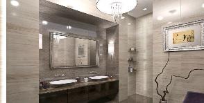 Решение для ванной комнаты в загородном доме: дизайн Architectural Group Rehouse