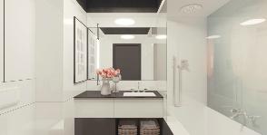 В белой, белой ванной комнате: дизайнер Дарья Карелина